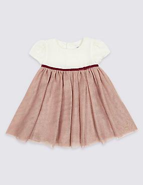 Velvet Tutu Baby Dress, DARK MIX, catlanding