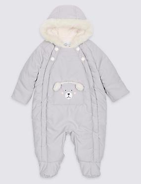 Faux Fur Bear Snowsuit with Stormwear™, WINTER WHITE, catlanding