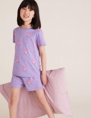 Pure Cotton Percy Pig™ Short Pyjamas (3-16 Yrs)