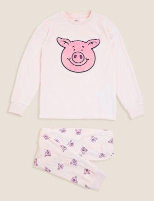 Percy Pig™ Velour Pyjamas (2-16 Yrs)