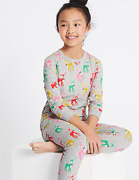 Cotton Rich All Over Print Pyjamas (1-16 Years), MULTI, catlanding