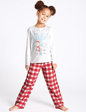 Pure Cotton Pyjamas (2-16 Years), RED MIX, catlanding