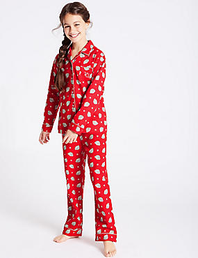 Pure Cotton Pyjamas (2-16 Years), RED MIX, catlanding