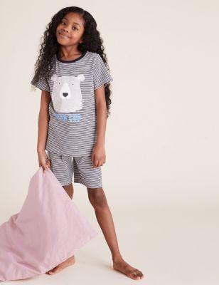 Mini Me Bear Cub Short Pyjama Set (1-16 Yrs)