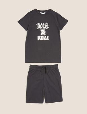 Mini Me Slogan Short Pyjama Set (1-16 Yrs)