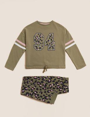 Cotton Leopard Print Pyjamas (6-16 Yrs)