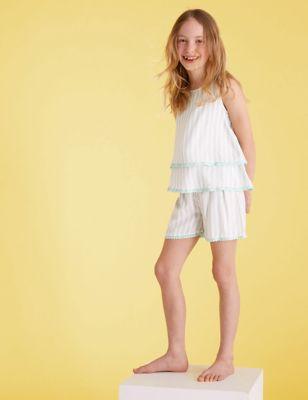 Striped Short Pyjama Set(6-16 Yrs)