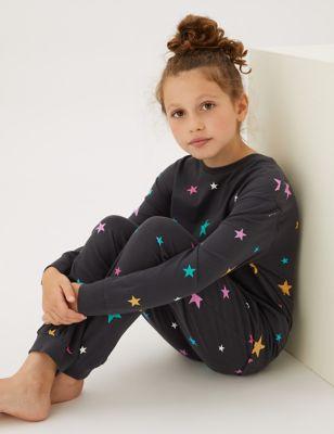 2pk Pure Cotton Printed Pyjama Set (6-16 Yrs)