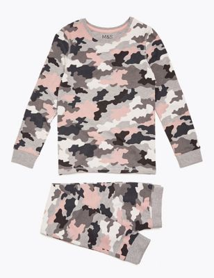 Cotton Camouflage Pyjama Set (7-16 Years)