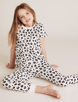 2pk Pure Cotton Leopard Pyjama Sets (6-16 Yrs)