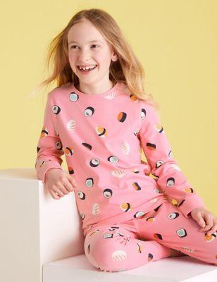Cotton Sushi Pyjama Set (7-16 Yrs)