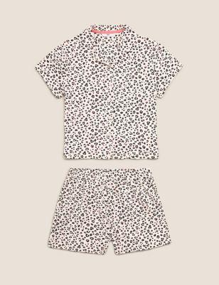 Cotton Leopard Short Pyjama Set (6-16 Yrs)