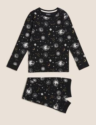 Cotton Constellation Print Pyjamas (7-16 Yrs)