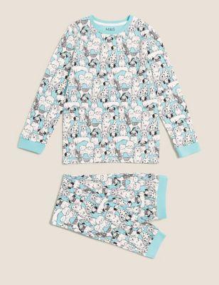 Cotton Dog Print Pyjamas (7-16 Yrs)