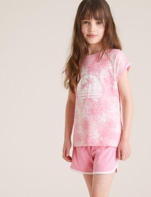 2pk Pure Cotton Tie Dye Short Pyjama Sets (6-16 Yrs)