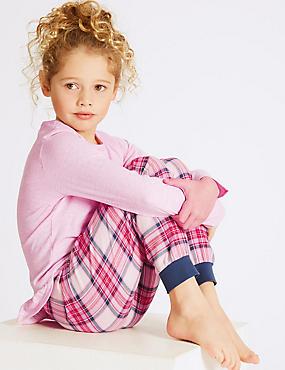 Cotton Rich Pyjamas (3-16 Years), PINK MIX, catlanding