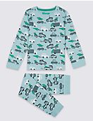 Cotton Pyjamas with Stretch (1-7 Years)