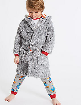 Dressing Gowns with Belt (1-8 Years), GREY MIX, catlanding