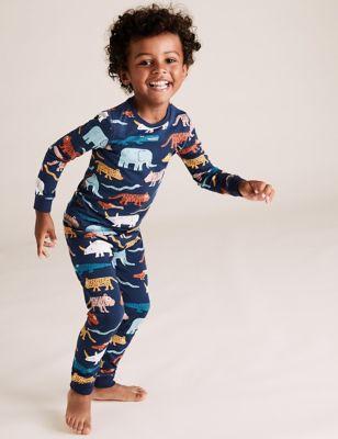 Cotton Rich Animal Print Pyjama Set (1-7 Yrs)
