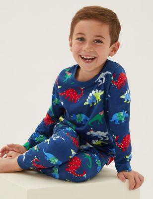 Pure Cotton Dinosaur Pyjamas (1-7 Yrs)