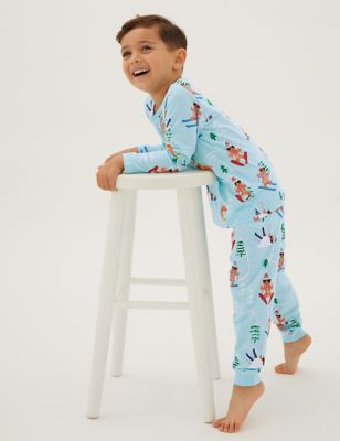 Pure Cotton Gingerbread Men Pyjamas (12 Mths - 7 Yrs)