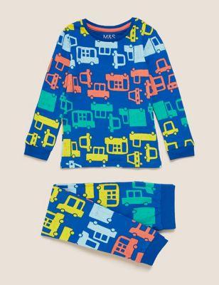 Cotton Transport Print Pyjama Set (1-7 Yrs)