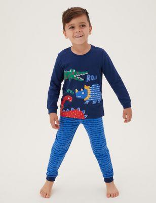 2pk Pure Cotton Dinosaur Pyjama Set (1-7 Yrs)