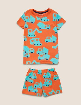 Cotton Transport Short Pyjama Set (1-7 Yrs)