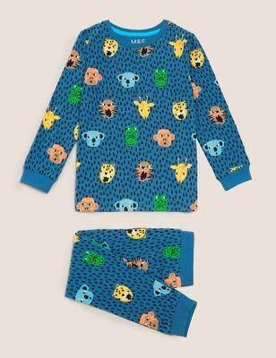 Cotton Animal Print Pyjamas (1-7 Yrs)