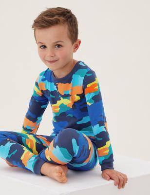 Cotton Camouflage Pyjamas (1 - 7 Yrs)
