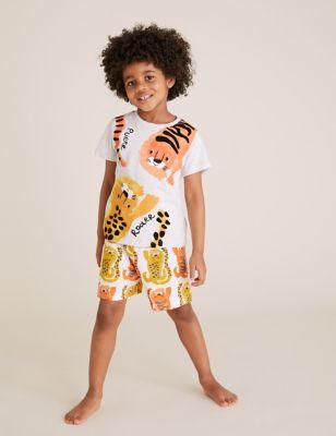 Cotton Animal Print Short Pyjama Set (1-7 Yrs)