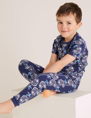 2pk Pure Cotton Chameleon Pyjama Sets (1-7 Yrs)