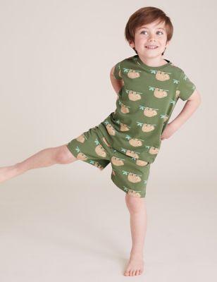 3pk Pure Cotton Animal Short Pyjama Set (1-7 Yrs)