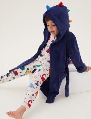 Fleece Dinosaur Dressing Gown (1-7 Yrs)