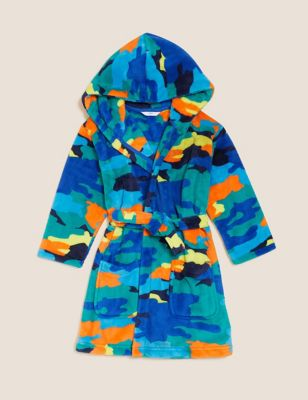 Fleece Camouflage Dressing Gown (1-7 Yrs)