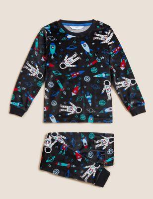 Velour Space Pyjamas (1 - 7 Yrs)