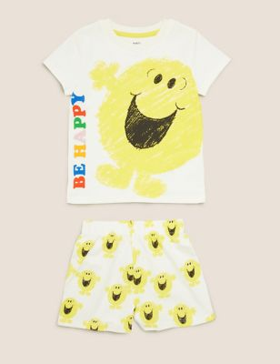 Pure Cotton Mr Men™ Short Pyjama Set (1-7 Yrs)