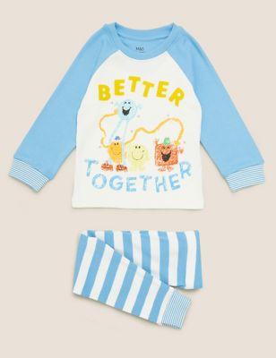 Pure Cotton Mr Men™ Pyjama Set (1-7 Yrs)