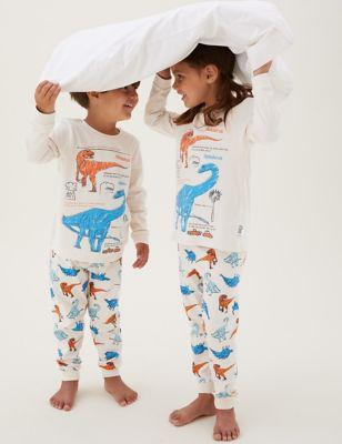 Pure Cotton NHM™ Dinosaur Pyjamas (1-7 Yrs)