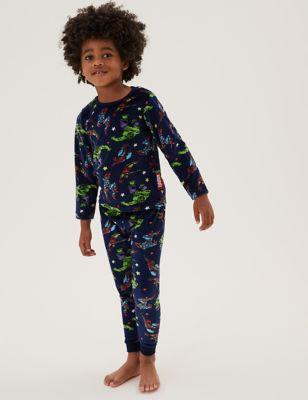 Marvel Superheroes™ Velour Cotton Pyjamas (3-8 Yrs)
