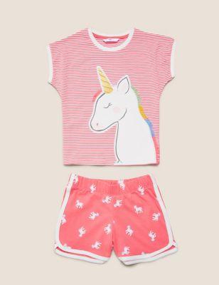 Pure Cotton Unicorn Short Pyjama Set (1-7 Yrs)