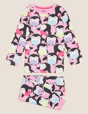 Pure Cotton Penguin Pyjamas (1-7 Yrs)