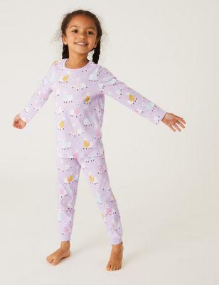 Pure Cotton Llama Pyjamas (1-7 Yrs)