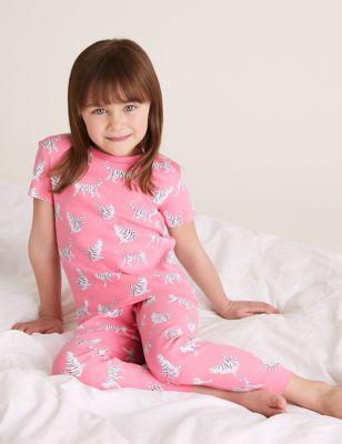 2pk Pure Cotton Cat Pyjama Sets (1-7 Yrs)