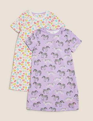 2pk Animal Nightdresses (1-7 Yrs)