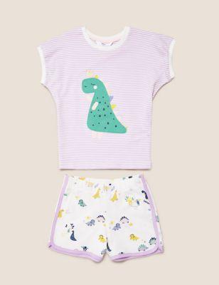 Pure Cotton Dinosaur Short Pyjama Set (1-7 Yrs)
