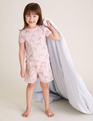 2pk Pure Cotton Print Short Pyjama Sets (1-7 Yrs)