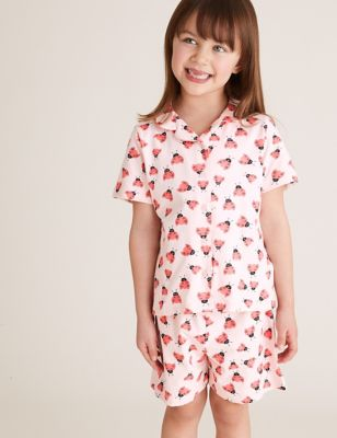 Cotton Ladybird Print Short Pyjama Set (1-7 Yrs)