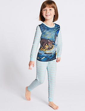 The Gruffalo™ Pyjamas (1-8 Years), MINT MIX, catlanding
