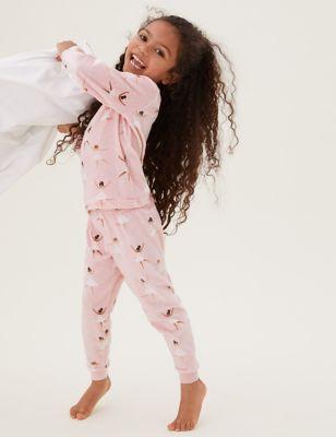 Velour Fairy Pyjama Set (1-7 Yrs)